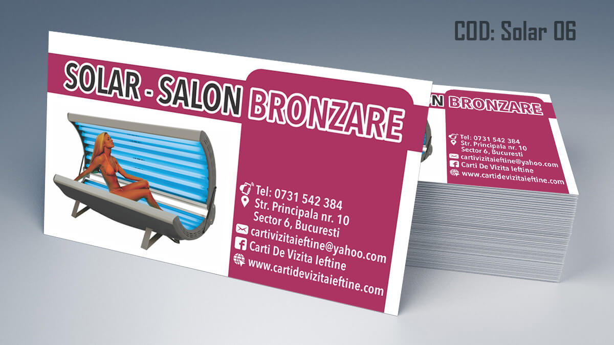 Carti de vizita Salon Bronzare Solar Taning 06