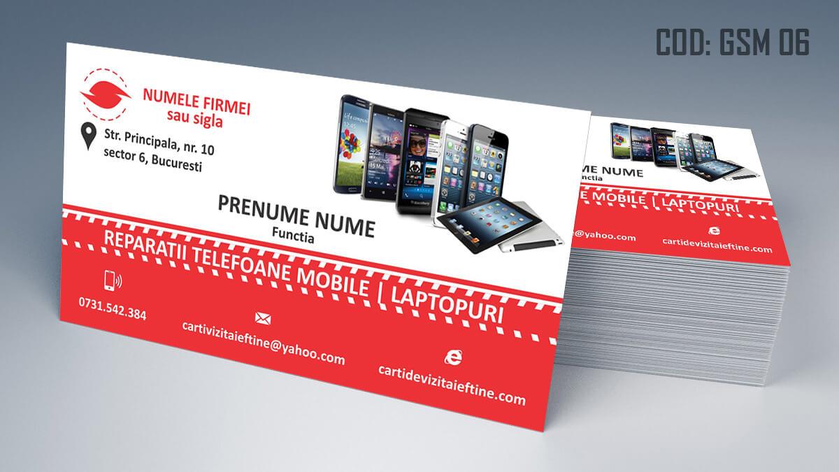 Carti de vizita Service Gsm Reparatii telefoane laptop tablete 06