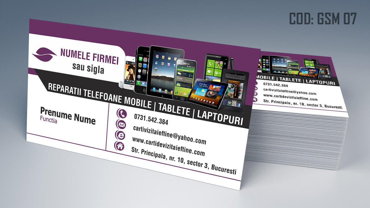 Carti de vizita Service Gsm Reparatii telefoane laptop tablete 07