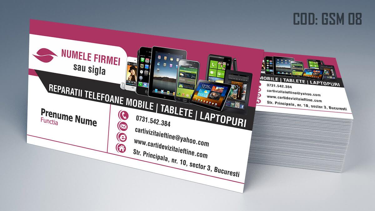 Carti de vizita Service Gsm Reparatii telefoane laptop tablete 08