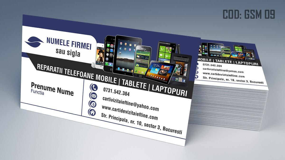 Carti de vizita Service Gsm Reparatii telefoane laptop tablete 09