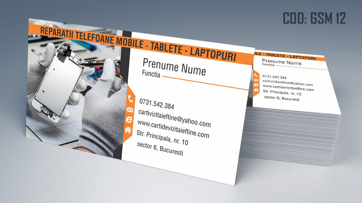 Carti de vizita Service Gsm Reparatii telefoane laptop tablete 12