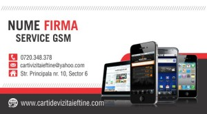 Carti de vizita - Cod GSM - 01