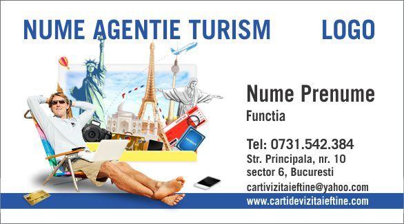 Carti de vizita agentie de turism voiaj Cod Agt24