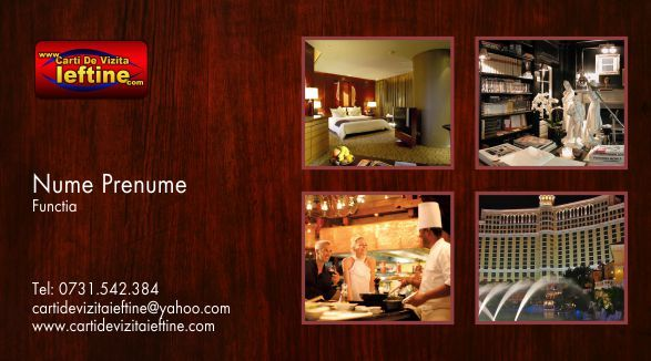 Carti de vizita hotel, cazare, pensiune Cod - Hotel 05