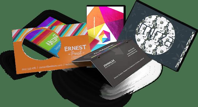 carti de vizita multistrat, folio, transparente, magnetice, metalice, lemn