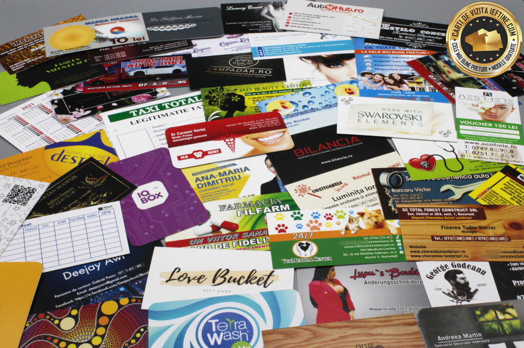 carti de vizita Bacau ieftine online CDVi