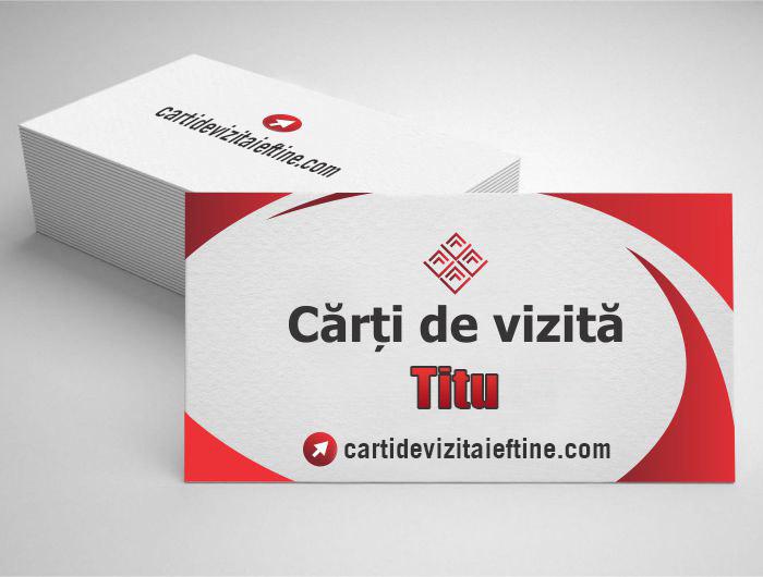 carti de vizita Titu - CDVi