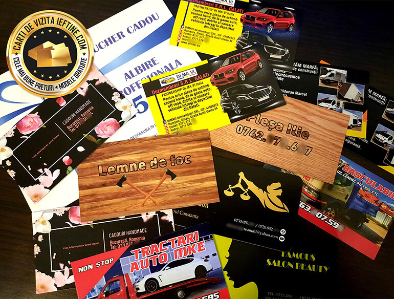 modele carti de vizita Târgu Ocna pret mic online CDVi