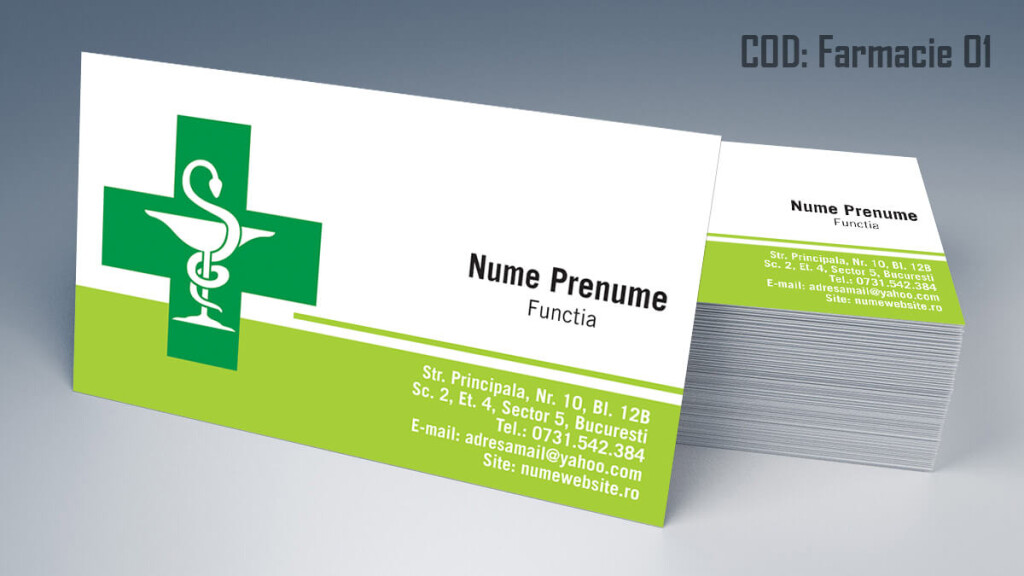 Carti de vizita Farmacie modele online gratis CDVi cod Farmacie 01