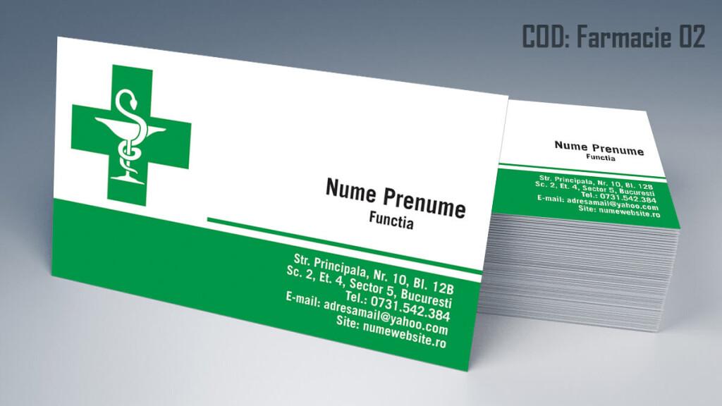 Carti de vizita Farmacie modele online gratis CDVi cod Farmacie 02