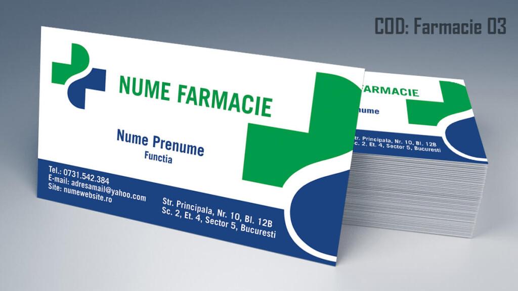 Carti de vizita Farmacie modele online gratis CDVi cod Farmacie 03