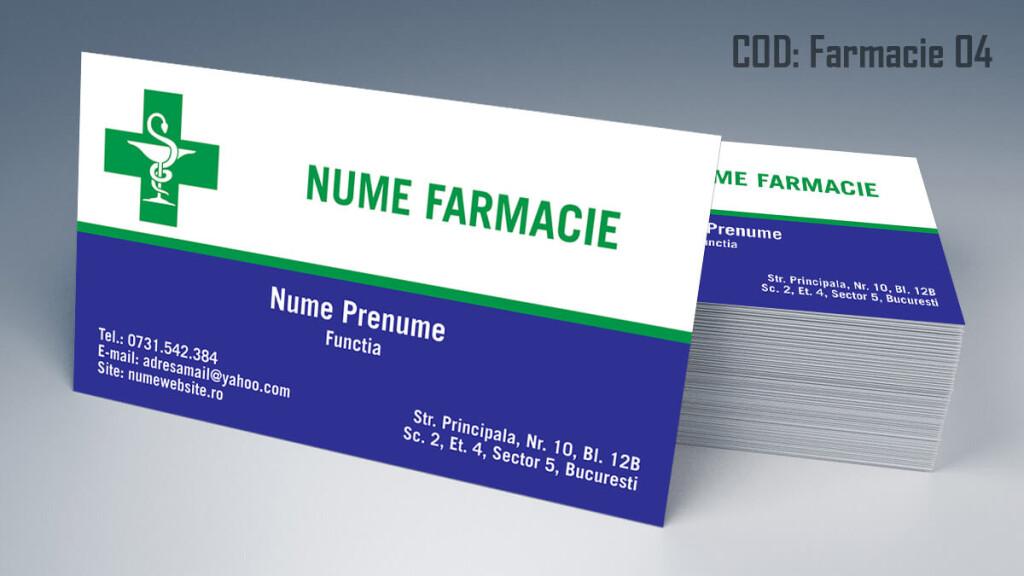 Carti de vizita Farmacie modele online gratis CDVi cod Farmacie 04