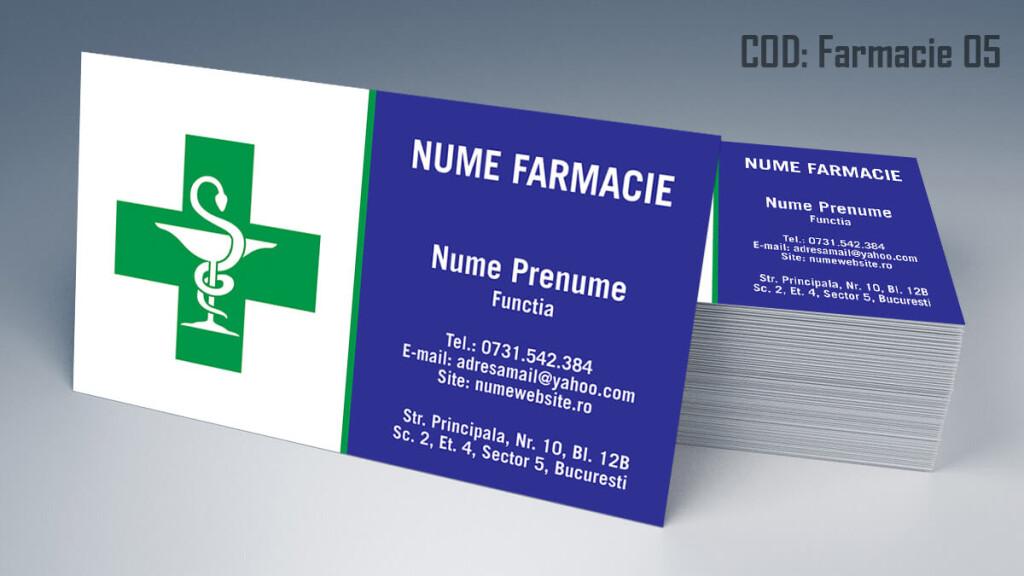 Carti de vizita Farmacie modele online gratis CDVi cod Farmacie 05