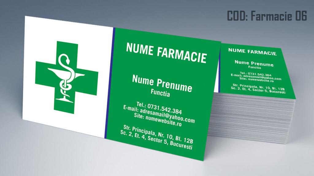 Carti de vizita Farmacie modele online gratis CDVi cod Farmacie 06