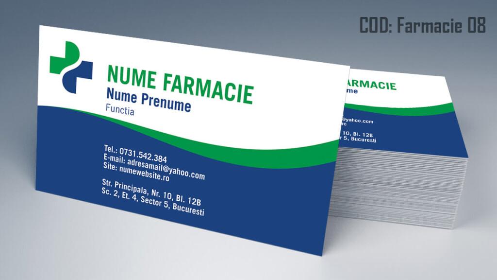 Carti de vizita Farmacie modele online gratis CDVi cod Farmacie 08