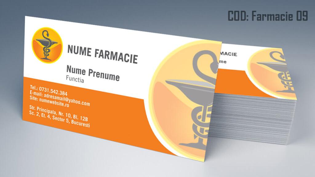 Carti de vizita Farmacie modele online gratis CDVi cod Farmacie 09